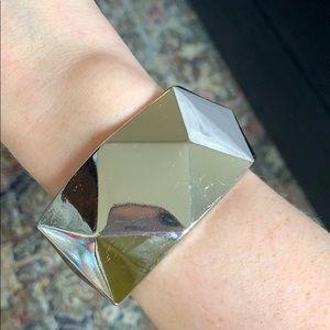 Silver chunky bangle bracelet ✨